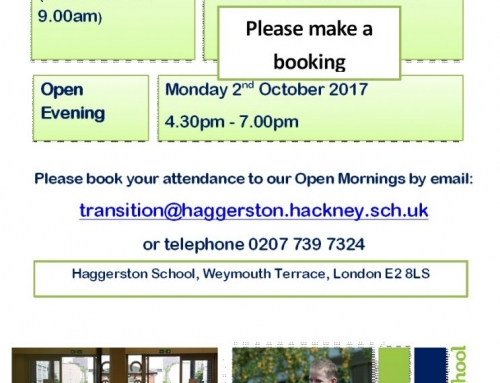 Open Evening – Monday 2nd October 4.30pm – 7.00pm